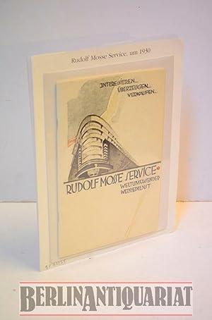 Rudolf Mosse Service: Weltumfassender Werbedienst.: Mosse, Rudolf Hg.: