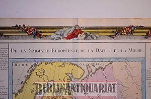 De la Sarmatie- Européenne de la Dace et de la Moesie. Map of European Samartia. Karte des ...