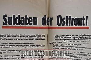 """Soldaten der Ostfront."""" Aufruf an die deutschen: Hitler, Adolf:"""