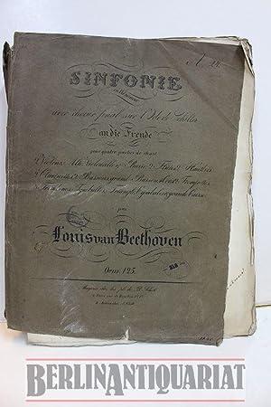 """Sinfonie mit Schluss-Chor über Schillers Ode: """"An: Beethoven, Ludwig van:"""
