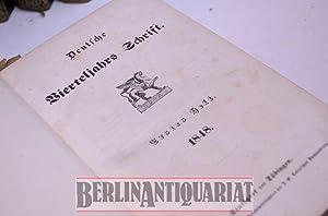Deutsche Vierteljahrs Schrift.