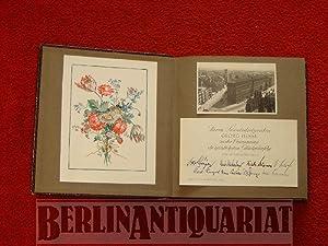 Herrn Senatsdirigenten Georg Hesse. [Album mit Glückwunschkarten zur Ernennung zum ...