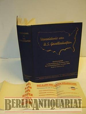 Verzeichnis von U.S. Gesellschaften. Zusammengest. in Übereinstimmung mit Absatz 112 (i) des ...