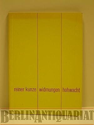 Widmungen. Gedichte.: Kunze, Reiner: