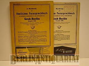2. Nachtrag zum Amtlichen Fernsprechbuch für den Bereich des Bezirksdirektion für Post- ...