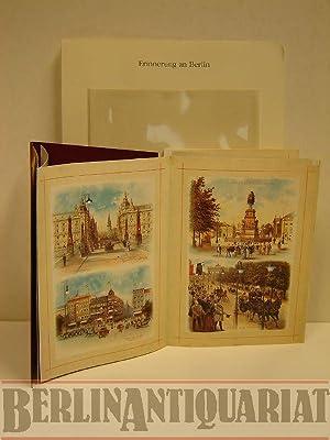Erinnerung an Berlin. Leporello-Album mit Ansichten von: Miesner, J.: