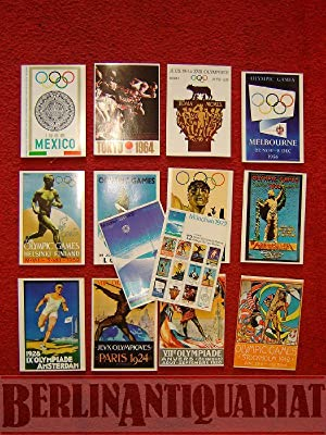 "12 Antike Olympische Plakate"", ""12 Antique Olympic Posters"". Postkarten. Postkarte. ..."