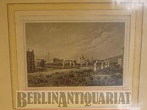 Berlin. (Die Schloßbrücke.) Stahlstich. Johannes Rabe, delt; Joh. Poppel, sculpt.: ...