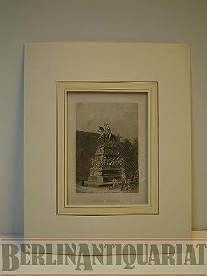 Denkmal Friedrich II. Denkmal von Rauch. Stahlstich gestochen von T. Doherty nach E. Meyerheim.: ...