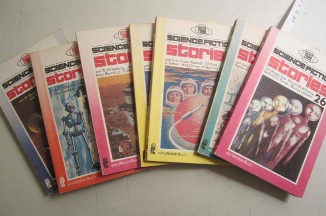 Konvolut Ullstein Schience Fiction Stories, 7 Bände. Band 26, 38, 40, 45, 48, 60, 66. - Roger Dee, Isaac Asimov, Ursula K. LeGuin, Eric Frank Russel u.a.