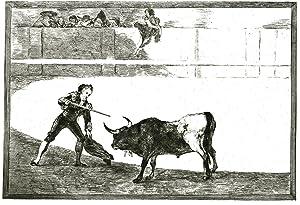 TAUROMACHIA. 43 Faksimile-Wiedergaben in Kupfertiefdruck. Herausgegeben von Hugo Keehrer: GOYA, ...