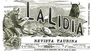 """ESTAMPAS DE LA REVISTA TAURINA """"LA LIDIA"""". Litografías en color del pintor Daniel Perea. ..."""