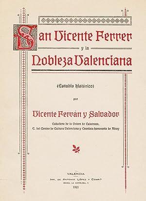 SAN VICENTE FERRER Y LA NOBLEZA VALENCIANA: FERRÁN Y SALVADOR,