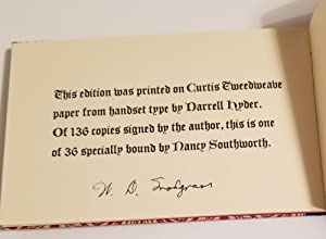 D.D. BYRDE CALLING JENNIE WRENN Poems: Snodgrass, W.D.
