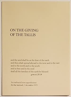 ON THE GIVING OF THE TALLIS