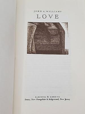 LOVE A Story: Williams, John A.