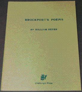 BROCKPORT'S POEMS [SIGNED LIMITED]: Heyen, William