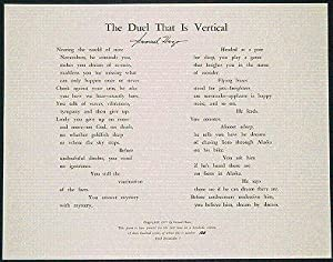 THE DUEL THAT IS VERTICAL A Poem