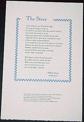THE STEER A Poem: Heyen, William