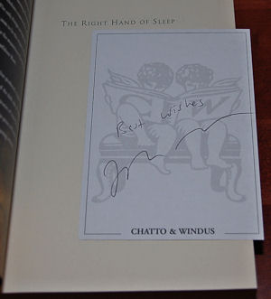 THE RIGHT HAND OF SLEEP A Novel: Wray, John