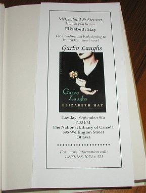 GARBO LAUGHS A Novel: Hay, Elizabeth