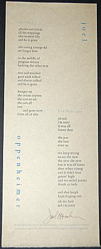 FOR MAX/TED BERRIGAN