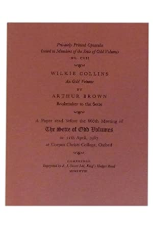 Wilkie Collins: An Odd Volume; a paper: Sette of Odd