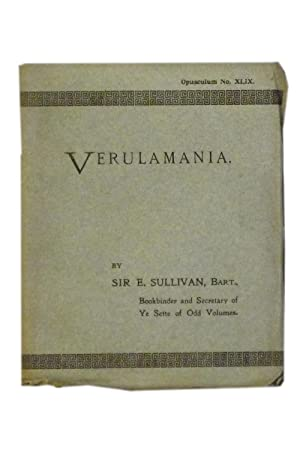 Verulamania: Some Observations on the Making of: Sette of Odd