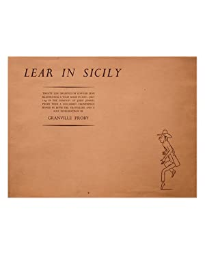 Lear in Sicily . Illustrating a Tour: Lear (Edward). Introduction