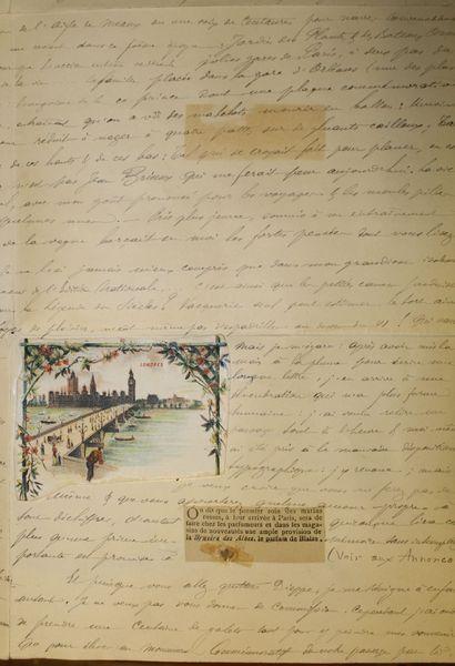 lettre manuscrite d u0026 39 un voyageur en normandie  by dieppe