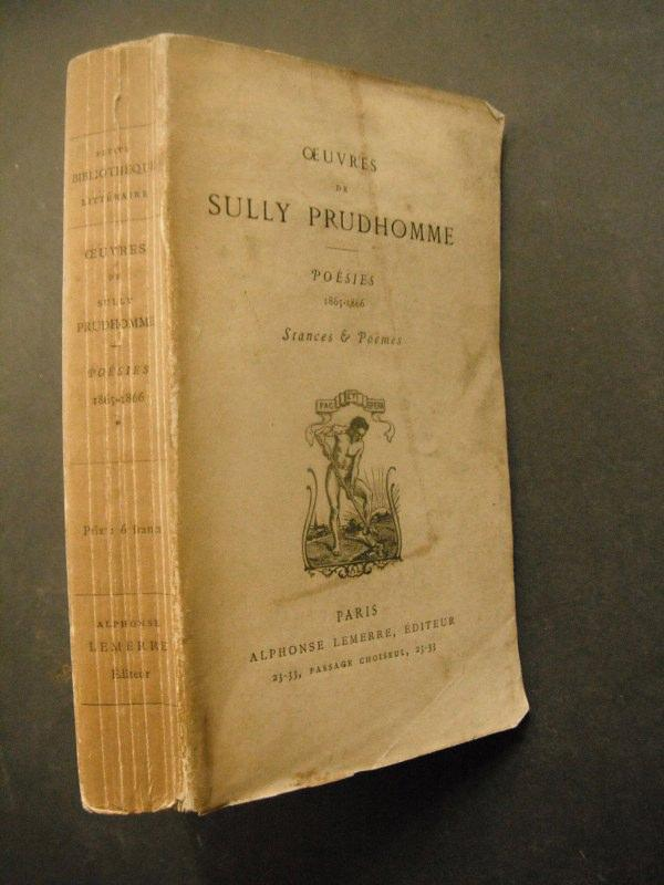 Ouvres De Sully Prudhomme Poesies 1865 1866