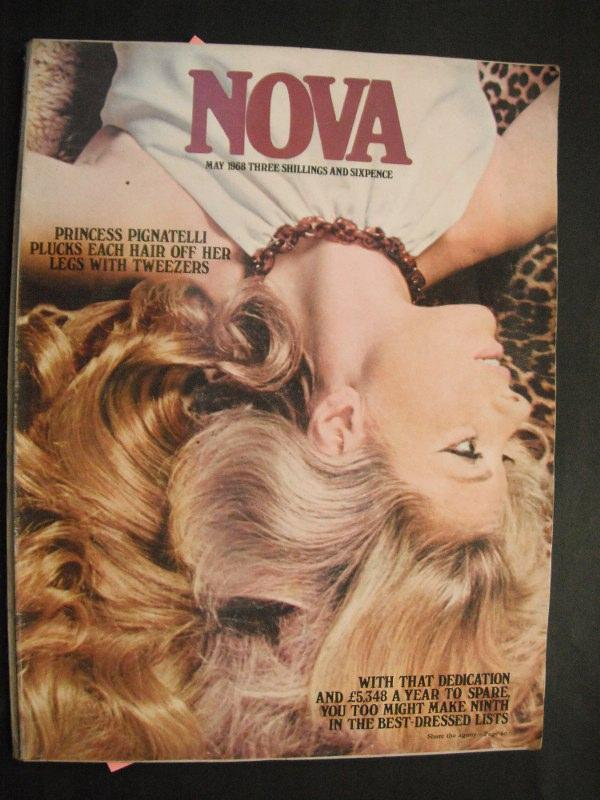 Nova Magazine: May 1968 n/a: VG lage PB magazine with illustrated colour cover and no inscriptions. A clean tight copy of 136pp. incl. articles, fashion, food, period ads and phot