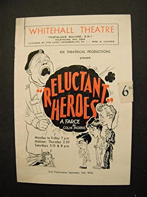 Whitehall Theatre Programme: Reluctant Heroes (Starring Brian: Morris, Colin: