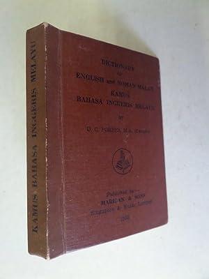 Dictionary of English and Roman Malay: Kamus: Forbes, D. C.: