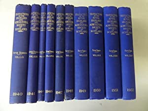 Transactions of the Highland and Agricultural Society of Scotland: 10 Volumes (between 1940 and 1...