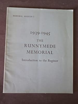 1934-1945 The Runnymede Memorial: Introduction to the