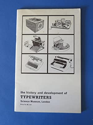 The History and Development of Typewriters: Science: G. Tilghman Richards