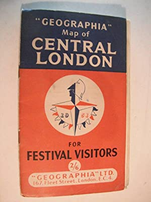 """Geographia"""" Map of Central London for 1951: n/a:"""