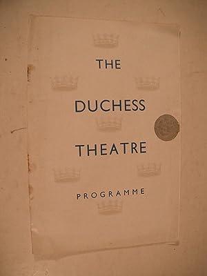 The Duchess Theatre Programme: The Linden Tree: Priestley, J.B.: