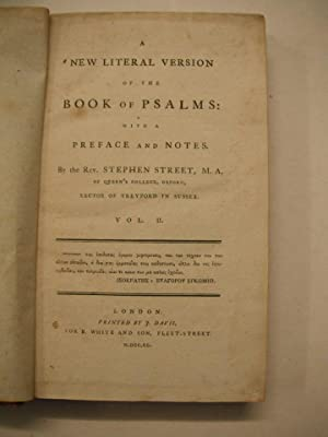 A New Literal Version of the Book: Street, Rev. Stephen: