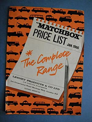 Matchbox Price List: Jan 1966 (The Complete: n/a:
