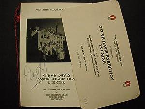 Steve Davis Exhibition Evening: SIGNED PROGRAMME/MENU (The: n/a: