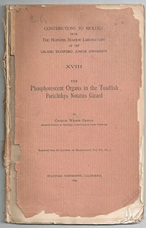 The Phosphorescent Organs in the Toadfish Porichthys: Greene, Charles Wilson