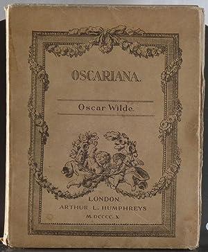 Oscarina: Wilde, O