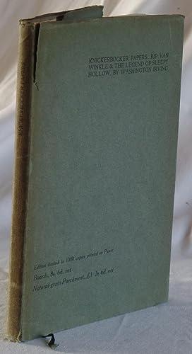 Knickerbocker Papers - Being Rip Van Winkle: Irving, W