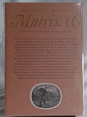 Matrix 16. A Review For Printers & Bibliophiles