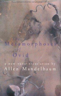 The Metamorphoses of Ovid: Ovid