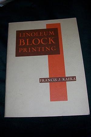 Linoleum Block Printing: Industrial Arts Department,