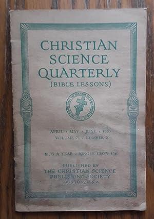 Christian Science Quarterly, Vol. 71. No. 2,: Eddy, Mary Baker