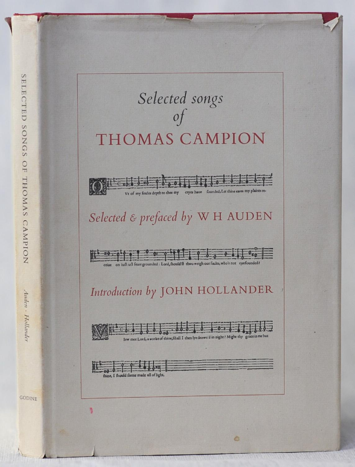 Selected Songs of Thomas Campion: Auden, WH & Hollander John